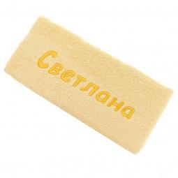 фото Полотенце подарочное с вышивкой TAC Светлана. Цвет: желтый