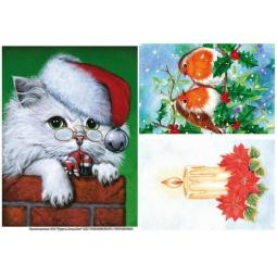 Купить Бумага рисовая для декупажа Другие люди «Рождественские открытки»