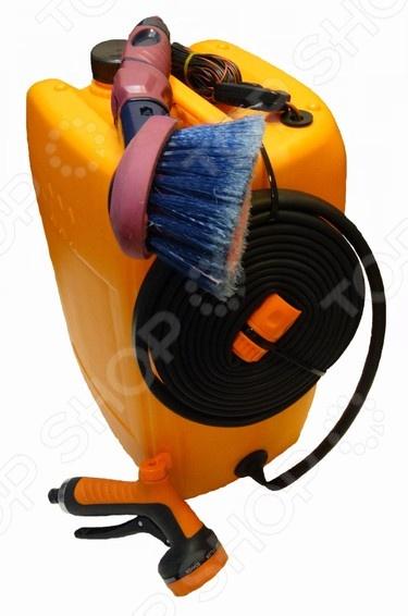 Минимойка «Лонгер-20-форте»Минимойки<br>Минимойка Лонгер-20-форте устройство, при помощи которого вы сможете быстро избавиться от пыли и грязи на разных поверхностях. В основном используется для мойки машины, велосипедов, скутеров, мотоциклов, автомобиля, очистки садовой техники и инструментов, а также садовой мебели, заборов и множества других поверхностей. Шланг высокого давления, позволяет обрабатывать всевозможные поверхности, механизмы и устройства находясь от них на расстоянии. Технические характеристики:  мотор-насос должен быть защищён от замерзания и от перегрева выше 50 С.  режим работы продолжительный, максимально допустимое время цикла вкл. выкл. 30 мин.  питание постоянный ток.  напряжение 12 В.  потребляемый ток 2,9 А.  плавкий предохранитель на 5 А.  температура воды до 45 С, использовать только чистую воду.  длина шланга 4 м.  длина провода электропитания 4 м.  душ-пистолет 7 режимов струи.  мягкая щетка с регулятором расхода воды.<br>