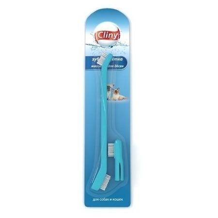 Купить Набор: щетка зубная и массажер для десен собак и кошек Cliny K103