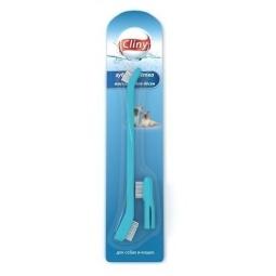 фото Набор: щетка зубная и массажер для десен собак и кошек Cliny K103