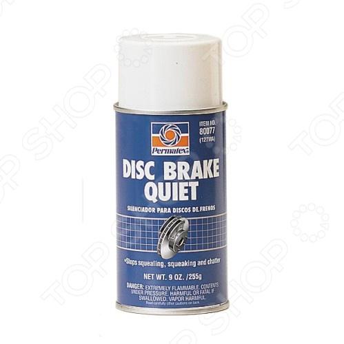 Смазка демпферная для устранения шума дисковых тормозов Permatex PR-80077Смазки<br>Смазка демпферная для устранения шума дисковых тормозов Permatex PR-80077 обеспечивает плотное прилегание колодки к тормозному цилиндру, а также устраняет вибрацию и перекос колодок, который вызывает шум при езде и торможении. Смазку следует наносить на обратную не фрикционную поверхность колодок при их замене.<br>