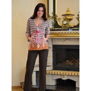 Купить Костюм домашний для беременных Nuova Vita 405.4. Цвет: коричневый
