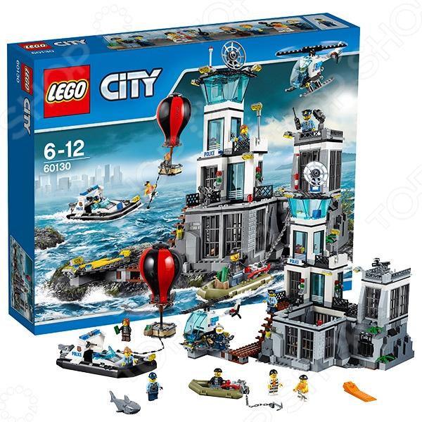 Конструктор игровой LEGO «Остров-тюрьма»Конструкторы LEGO<br>Конструктор игровой Lego Остров-тюрьма комплект для развлечения, он обязательно понравится ребенку, потому как сможет самостоятельно собрать целую композицию, с которой можно играть. Играя с конструктором, ребенок будет развивать пространственное и логическое мышление, творческие способности и мелкую моторику рук. Кроме того, с получившейся игрушкой он сможет самостоятельно придумывать различные игровые ситуации, развивая тем самым и фантазию. Cостоит из 754 деталей, из которых собирается здание тюрьмы с несколькими функциональными помещениями и системой вентиляции, через которую могут улизнуть заключенные, полицейский вертолёт, полицейский катер, лодка и воздушный шар злоумышленников. Также имеется огромное количество различных аксессуаров, таких как: полицейская рация, наручники, гантель, пачки денег и другие. Дополнительно входят минифигурки: четверо полицейских, четверо преступников и фигурка акулы.<br>