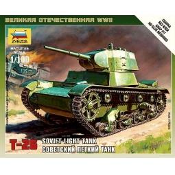 фото Сборная модель Звезда советский легкий танк Т-26
