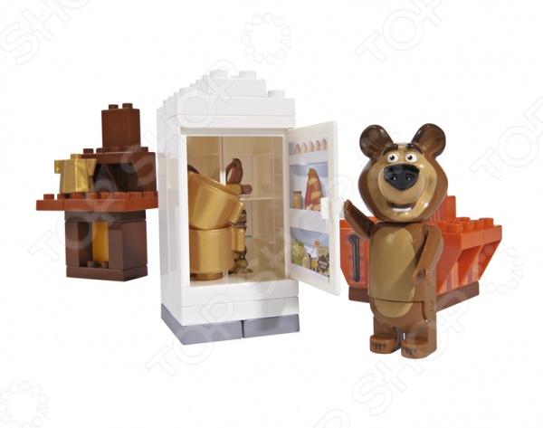 Конструктор игровой BIG «Кухня Мишки»Игровые конструкторы<br>Конструктор игровой BIG Кухня Мишки станет чудесным подарком для вашего любимого чада. У малыша появится возможность поближе познакомиться с героями любимого мультфильма и помочь Мишке приготовить вкусный обед. Подобные игры способствуют развитию у детей мелкой моторики рук, пространственного мышления и восприятия форм и цветов. Детали конструктора выполнены из высококачественной, прошедшей строгий контроль качества, пластмассы. Предназначено для детей в возрасте от 1,5 лет. В комплекте фигурка Медведя Миши.<br>