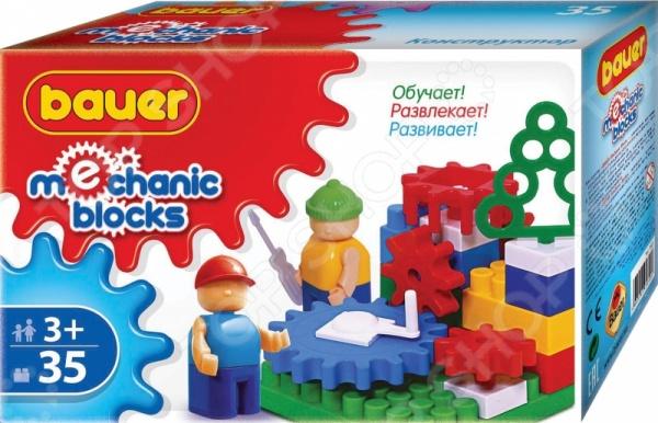 Конструктор игровой Bauer кр322Игровые конструкторы<br>Конструктор игровой Bauer кр322 - интересная и увлекательная игрушка, которая откроет вашему ребенку совершенно новый мир приключений и необычных историй, автором которых сможет стать он сам. Яркие и качественные элементы конструктора выполнены из прочного и безопасного пластика, легко складываются и компонуются. Ребенок с увлечением будет собирать конструктор и придумывать новые сюжеты для игр. Кроме того, собрать конструктор вашему малышу могут помочь его друзья - деталей хватит на всех. Подобное времяпрепровождение превратит развивающие занятия в увлекательную игру, разовьет в детях чувство товарищества, внимательность и ответственность. Подарите своему ребенку массу положительных эмоций и отличное настроение!<br>