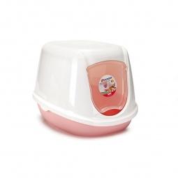 фото Домик-туалет для котят Beeztees Kitten. Цвет: розовый, белый