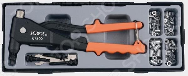 Набор: заклепочник с кассой резьбовых заклепок Force F-T5861 ключ накидной 12 гранный force f 759
