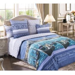 фото Комплект постельного белья Королевское Искушение «Венеция». 1,5-спальный. Цвет: фиолетовый