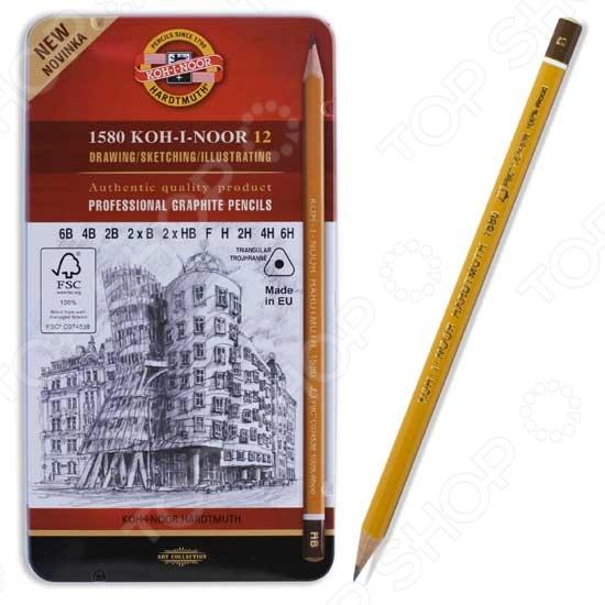 Набор карандашей простых Koh-I-Noor профессиональных
