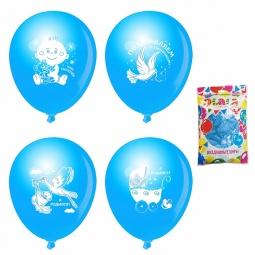 фото Набор воздушных шаров Olala «Я родился». В ассортименте. Цвет: голубой