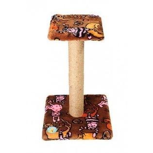 Купить Когтеточка-столб ЗООНИК с полочкой и мехом. В ассортименте