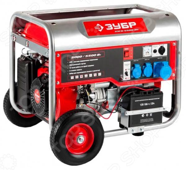 Генератор бензиновый Зубр ЗЭСБ-5500-ЭН б у морозильные камеры витрины