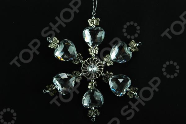 Елочное украшение Crystal Deco «Снежинка» 1707686