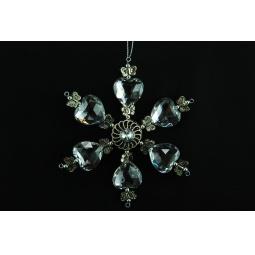 фото Елочное украшение Crystal Deco «Снежинка» 1707686