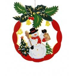 Купить Декорация подвесная Star Trading «Снеговик Омела»