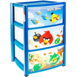 фото Комод 3-х секционный ТЦ Бытпласт Angry Birds