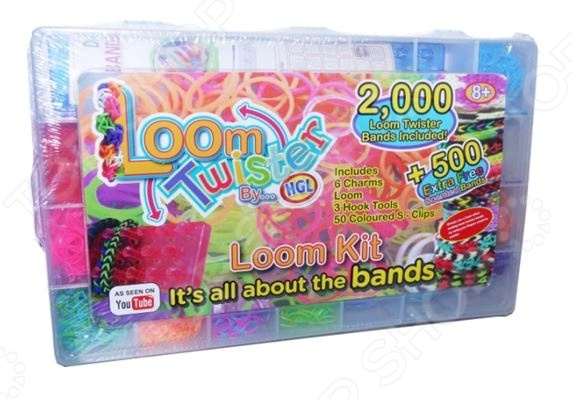 Набор цветных резинок для плетения фенечек Loom Twister SV11822