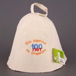 фото Шапка Банные штучки «Кто парится, тот 100 лет не старится»