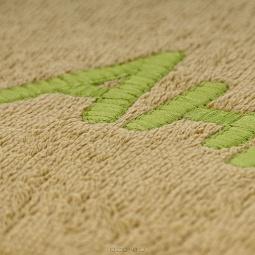 фото Полотенце подарочное с вышивкой TAC Андрей. Цвет: оливковый