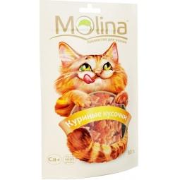 фото Лакомство для кошек Molina 70610 «Куриные кусочки»