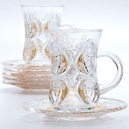 фото Набор стаканов и блюдца Mayer&Boch MB-22755