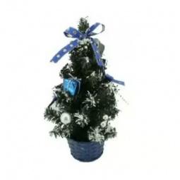 Купить Ель декоративная «Синие банты». Высота: 20 см