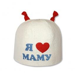 фото Шапка банная EVA «Я люблю маму»