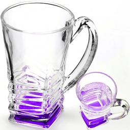 фото Набор стаканов Loraine «Зигзаг». Цвет: фиолетовый