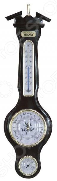 Барометр-метеостанция настенная Brigant 28121Подарки для путешественника<br>Барометр-метеостанция настенная Brigant 28121 многофункциональное устройство, предназначенное для метеорологических наблюдений и отслеживания изменений в погодных условиях. Метеостанция совмещается в себе сразу три метео-прибора: термометр, барометр и гигрометр. Термометр, в свою очередь, используется для измерения температуры воздуха в диапазоне до 50 градусов Цельсия. Встроенный барометр позволяет отследить изменения в атмосферном давлении, а гигрометр определить уровень влажности воздуха.<br>
