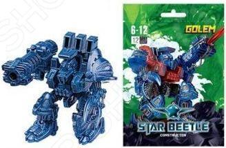 Фигурка сборная Star Beetle «Звездный Воин Голем»Игровые конструкторы<br>Фигурка сборная Star Beetle Звездный Воин Голем игрушка, которую дети должны собрать самостоятельно. От этого игровой процесс становится еще более увлекательным, ведь ребенок самостоятельно создает себе игрушку из элементов набора. Игра с фигуркой развивает мелкую моторику рук, фантазию и пространственное мышление.<br>