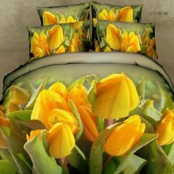 фото Комплект постельного белья с эффектом 3D Buenas Noches Tulpan. Евро