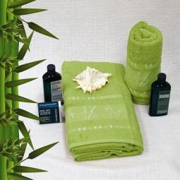 фото Полотенце махровое Mariposa Tropics green. Размер полотенца: 50х90 см