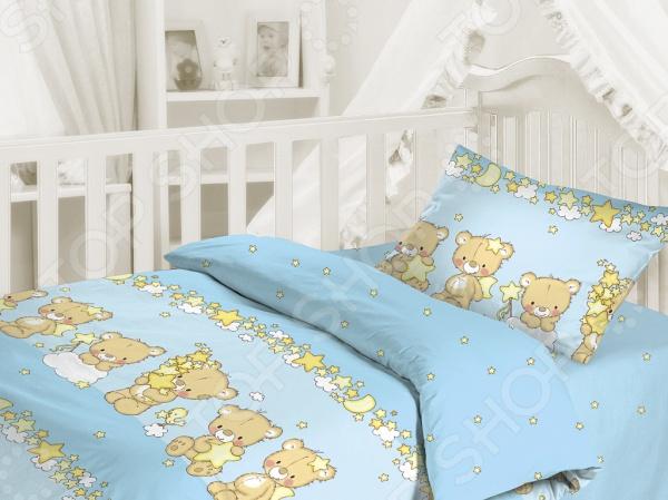 Детский комплект постельного белья Облачко «Мишки-малышки»