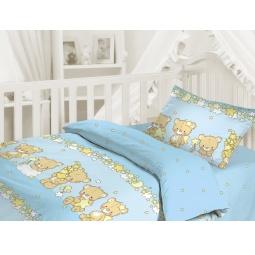 фото Детский комплект постельного белья Облачко «Мишки-малышки»