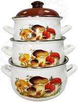 Набор посуды Interos «Грибы»