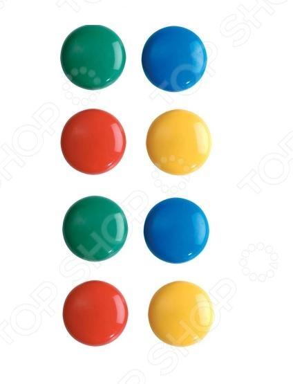Набор магнитов Erich Krause 22461 - набор ярких магнитов круглой классической формы. Предназначены для фиксации документов, проектов и различных бумаг на металлической доске. С их помощью можно крепить записки к холодильнику. Диаметр каждого магнита - 3 см. В наборе находится 8 штук магнитов разного цвета. Такие яркие магниты будут прекрасным дополнением к канцелярским принадлежностям офиса.