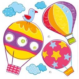 фото Набор объемных наклеек Decoretto «Воздушные шары»