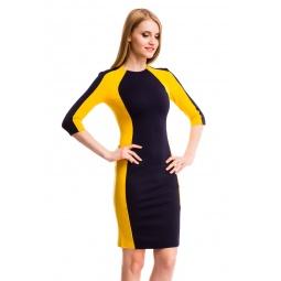 фото Платье Mondigo 5156-1. Цвет: горчичный. Размер одежды: 48