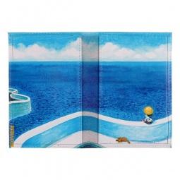 фото Обложка для паспорта двухсторонняя Mitya Veselkov «Малыш и песик у моря»
