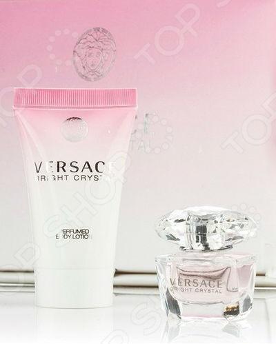 Набор: туалетная вода женская и лосьон для тела Versace Bright Crystal, 50 мл, 30 мл туалетная вода versace bright crystal объем 30 мл вес 80 00