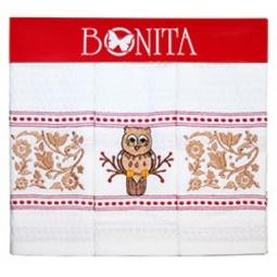фото Комплект из 3-х полотенец подарочный BONITA «Золотая сова»