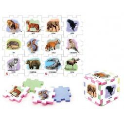 фото Пазл-кубик Нескучный кубик «Дикие животные»: 2 шт
