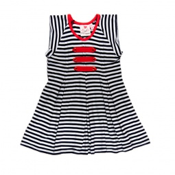 фото Платье в полоску Fore N Birdie Navy/White Stripe. Рост: 128-134 см