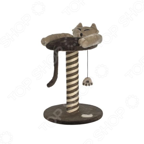 Когтеточка-столбик Beeztees 408742Домики. Лежаки. Когтеточки<br>Когтеточка-столбик Beeztees 408742 это высокая когтеточка, которая станет одним из важнейших аксессуаров для вашего кота. Всем представителям семейства кошачьих необходимо стачивать когти, это относится и к нашим домашним питомцам. Благодаря красивым и надежным когтеточкам коготки вашего котенка будут в полном порядке, кроме того, не пострадают мебель и обои. Интересная расцветка и оригинальный дизайн, которые будут заметны даже котенку привлекут его внимание и очень быстро он научится точить свои коготки только там. Кроме того, для дополнительного эффекта вы можете использовать опрыскиватели с кошачьей мятой, таким образом ваша кошка сразу поймет, что новый предмет в доме предназначен для нее. Стоит отметить, что вертикальные конструкции очень удобны, ведь ваш питомец может представлять, что точит когти об дерево. Для большего удобства сверху предусмотрено мягкое, удобное место для питомца. Когтеточка выполнена из натурального и прочного материала сизаля, который отличается повышенной износостойкостью, а значит прослужит вам долгое время. После приобретения этого столбика вы забудете о проблемах с испорченной мебелью!<br>