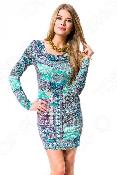 Платье Mondigo 8656. Цвет: бирюзовый