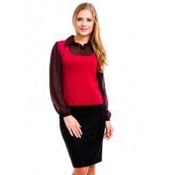 фото Блузка Mondigo 9445. Цвет: бордовый. Размер одежды: 46