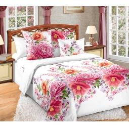 фото Комплект постельного белья Белиссимо «Камелия». 2-спальный. Цвет: розовый. Размер простыни: 220х195 см
