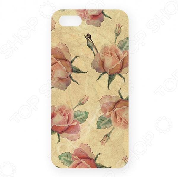 Чехол для iPhone 5 Mitya Veselkov «Нежные розы» чехол для iphone 5 mitya veselkov газировка
